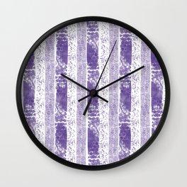 Lilac watercolor paint brushstrokes confetti stripes Wall Clock