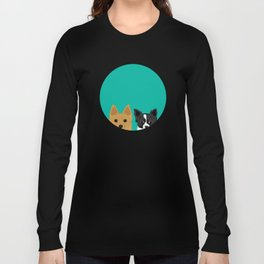 Pippen & Sooty - Teal Long Sleeve T-shirt