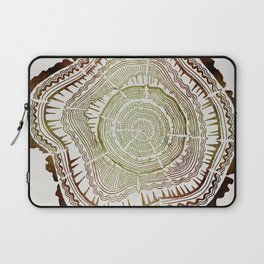 Tree Rings – Watercolor Ombre Laptop Sleeve