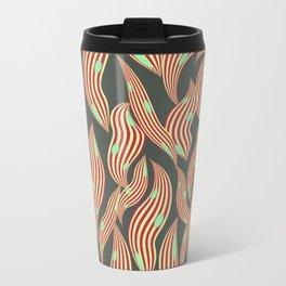 Seaworm red stripes turquoise dots Travel Mug