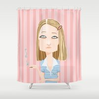 tenenbaum Shower Curtains featuring Margot Tenenbaum The Royal Tenenbaums by suPmön