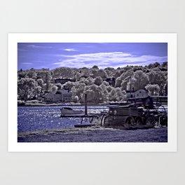 Afternoon Sun at Mystic Seaport Art Print