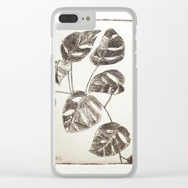 Swiss cheese plant Clear iPhone Case