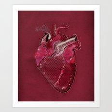 Digital Heart Art Print