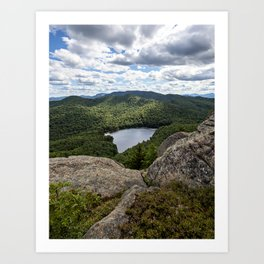 the view from peaked mountain Art Print