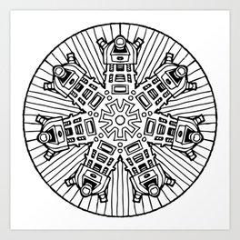 Mandalek - Dalek Mandala Art Print