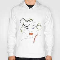 marylin monroe Hoodies featuring Out with Marylin by Irène Sneddon