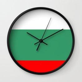 flag of bulgaria 2 -bulgarian, България,български,slav,cyrillic,Sofia,bulgaria Wall Clock