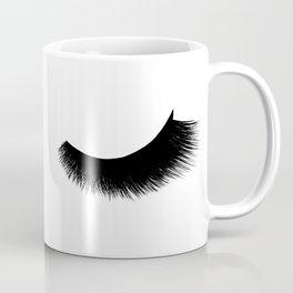 black and white eyelashes Coffee Mug