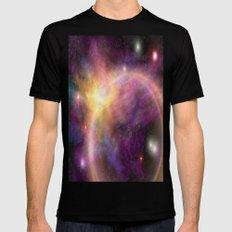 Nebula VI Black MEDIUM Mens Fitted Tee