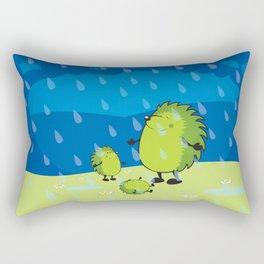 happy when it rains Rectangular Pillow