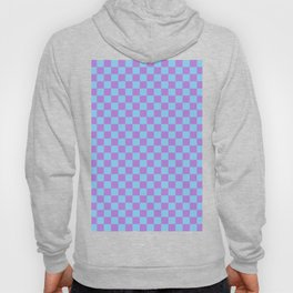 Lavender Violet and Baby Blue Checkerboard Hoody