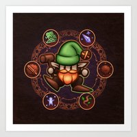 gnome Art Prints featuring Gnome  by likelikes