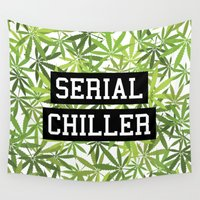 biggie Wall Tapestries featuring Serial Chiller by Text Guy