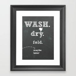 Laundry room print Framed Art Print