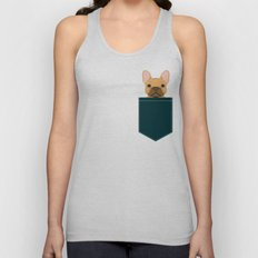 Willow - French Bulldog phone case art design for dog lovers and dog people Unisex Tank Top