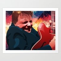marty mcfly Art Prints featuring Marty McFly by Stephanie Keir