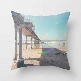 Scripps Pier Ocean Beach San Diego Throw Pillow