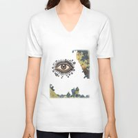 third eye V-neck T-shirts featuring Third Eye  by CUTS
