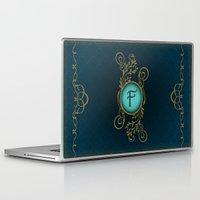monogram Laptop & iPad Skins featuring Monogram F by Britta Glodde