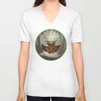 yoda V-neck T-shirts featuring Yoda by Marc Vuletich