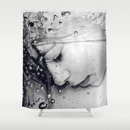 Drowning Shower Curtain