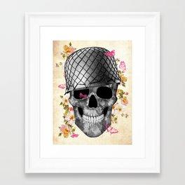 Skull Soldier Framed Art Print