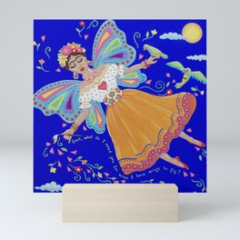 I have wings to fly Mini Art Print