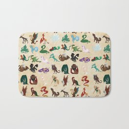 Mythical Creatures Pattern Bath Mat