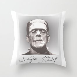 Selfie 1931 Throw Pillow