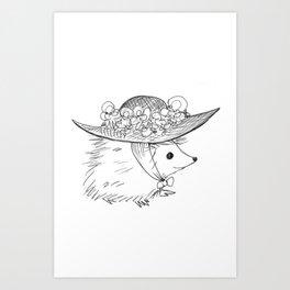 Hedgehog in a Hat Art Print