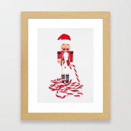 Nutcracker Cane Framed Art Print