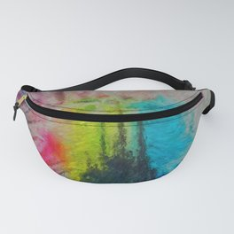 Alien Landscape warped Fanny Pack