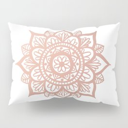 New Rose Gold Mandala Pillow Sham