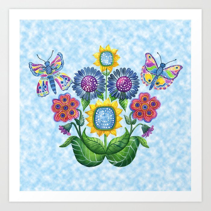 Butterfly Playground on a Summer Day Art Print