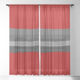 Abstract Grey Lines Sheer Curtain