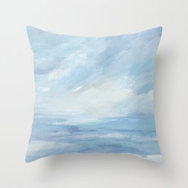 Winter Days - Winter Seascape Throw Pillow