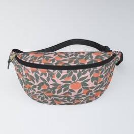 Oranges and Leaves Pattern - Pink Fanny Pack