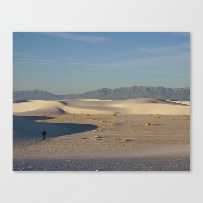 Adam in White Sands, New Mexico Canvas Print