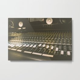Studio Mixing Board Metal Print