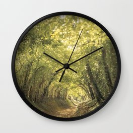 Tunnel of Trees Summer Series #3 Wall Clock
