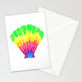 Rainbow Seashell Stationery Cards