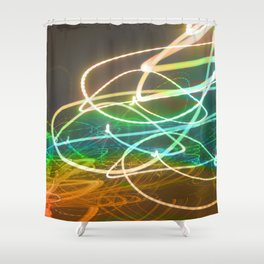 Rainbow Light Graffiti Shower Curtain
