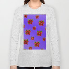 Red Flowers Pattern 3 Long Sleeve T-shirt