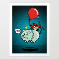 Birds  VS  Pigs Art Print