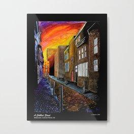 A Cobbled Street Metal Print