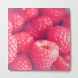 Raspberry photo. les framboises Metal Print