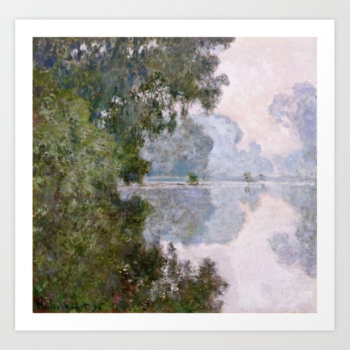 Claude Monet Morning On The Seine Near Giverny Art Print
