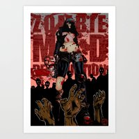 zombies Art Prints featuring zombies! by drrd