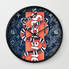 supreme snake Wall Clock